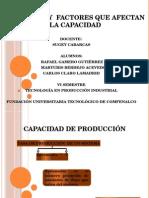 Capacidad y factores que afectan capacidad