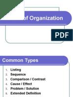 Pattern of Organization