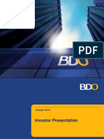 BDO Investor Presentation 2015Q2