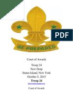 Court of Awards 10-5-2015
