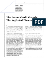 Credit Crunch Theory