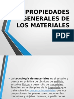 Propiedades Generales de Los Materiales