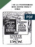 ORIGENES DE LA FRATERNIDAD ANARQUISTA ENTRE PERU Y CHILE