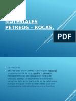 Materiales Petreos – Rocas