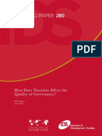 How Does Taxation Affect the Quality of Government