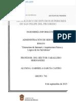 """Ensayo Estructura de Internet y Arquitectura Física y Lógica de Los Servidores"""""""