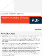Radwin Training Catalog v3.1