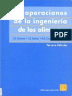 Las Operaciones de La Ingenieria de Los Alimentos - J. G. Brennan