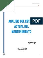 Analisis Estado Actual de Mtto. CAASA