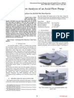 Numerical Flow Analysis of an Axial Flow Pump