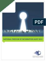 National Freedom of Information Audit 2015 Final