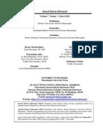 Jurnal Ilmiah Dibidang Sistem Informasi, di terbitkan oleh Maranatha University Press
