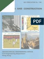 Pile Design and Construction - GEO Publication No1/96 - Hongkong