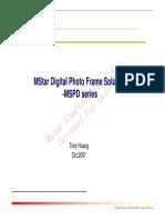 MStar Digital Photo Frame Solution
