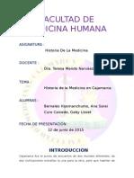Exposicion 2015-Medicina Cajamarca