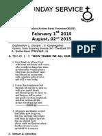 Download Contoh Tata Ibadah HKBP - Bahasa Inggris