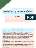 Causa y Variables