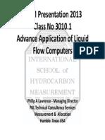 Advance Application of Liquid Flow-Computers ISHM Classroom Presentation May 2013
