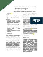 Informe 3. Presión de Vapor