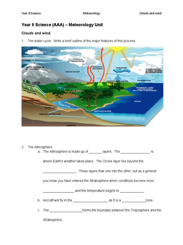 year 9 science worksheet