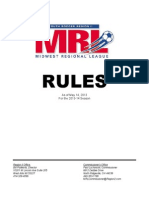 2013-2014 MRL Rules