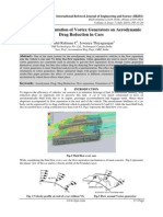 The Effect of Orientation of Vortex Generators on Aerodynamic Drag Reduction in Cars