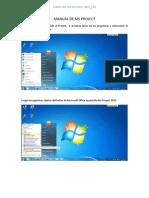 Manual Basico de Uso Project 2010