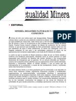 MINERÍA, DESASTRES NATURALES Y CAMBIO CLIMÁTICO