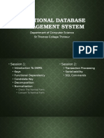 Relational Database Management System NET 2015 SESSION 1