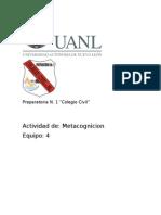 ESPAÑOL Act. Metacognicion