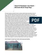 Iklan Rumah Dijual Di Rangkapan Jaya Depok - Hunian Minimalis Murah Harga Nego - www.rumahku.com