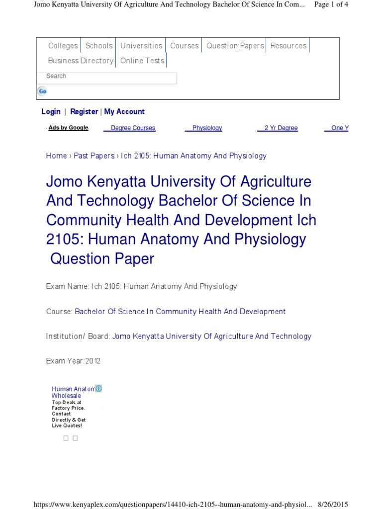 jkuat A & P | Qualifications | Academia