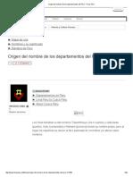 Origen Del Nombre de Los Departamentos Del Perú - Foros Perú