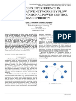 MANAGING INTERFERENCE IN COLLABORATIVE NETWORKS BY FLOW CONTROL AND SIGNAL POWER CONTROL BASED PRIORITY