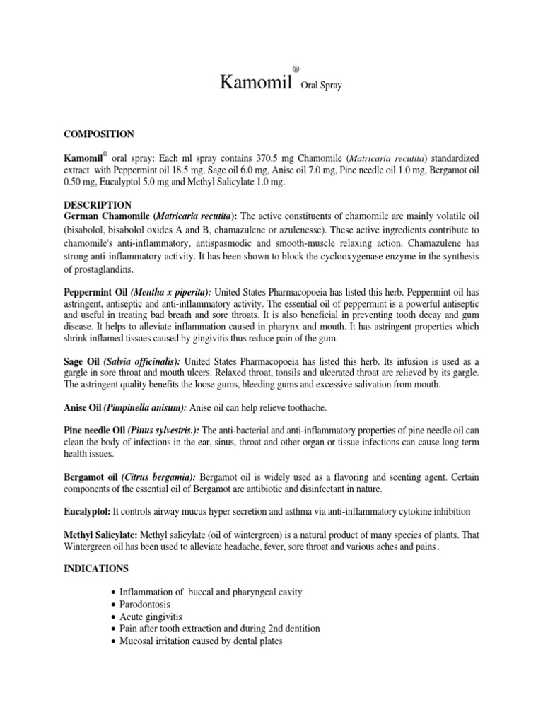 Kamomil DS   Anti Inflammatory   Clinical Medicine