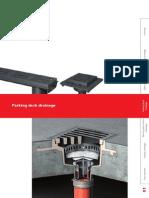 Floor Deck Drain _Flachdachkatalog Englisch Parking Deck