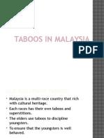 Taboos in Malaysia
