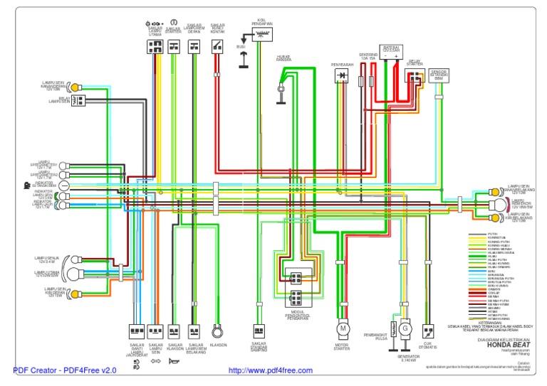 beat wiring diagram rh scribd com wiring diagram motor beat fi Compressor Wiring Diagram