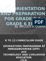 K-12 Orientation and Preparation for Grade 5