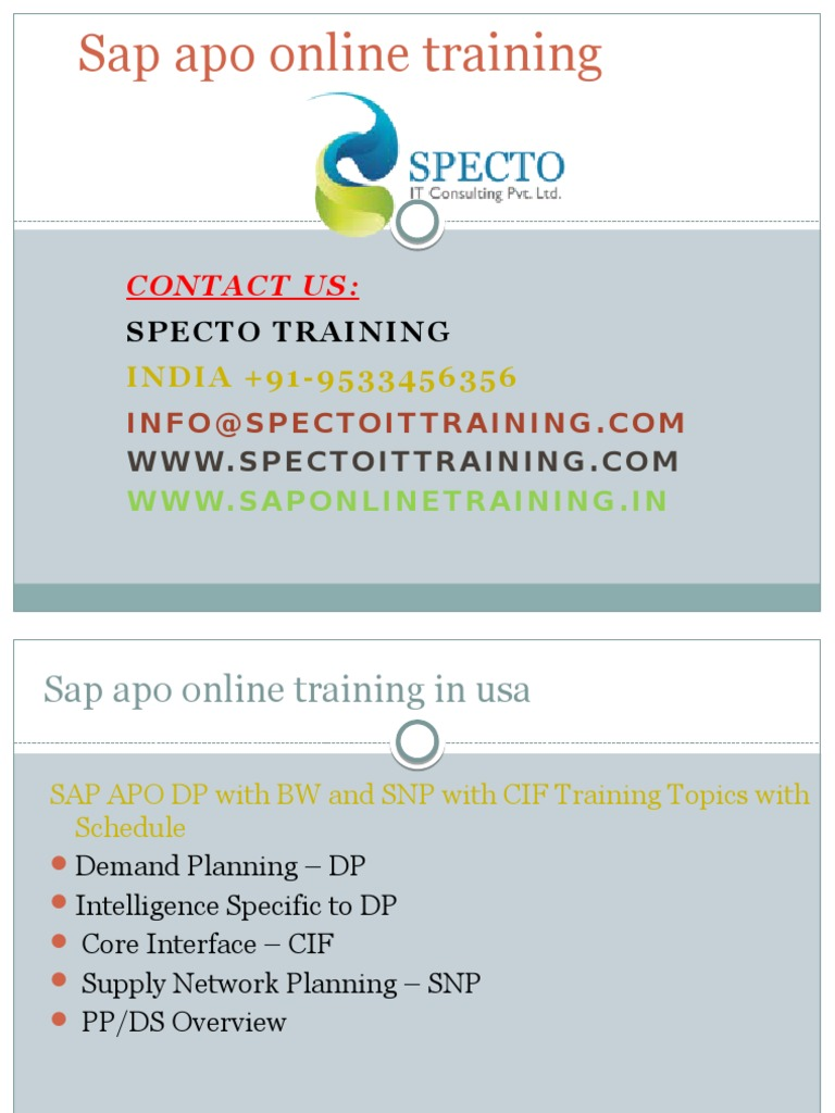 Sap apo training|sap apo course|sap apo online training|sap apo ...