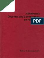 Bhikkhu Dhammajoti - Abhidharma Doctrines