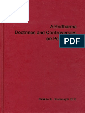 Abhidharma Doctrines and Controversies on Perception (HKU: CBS Publication Series)