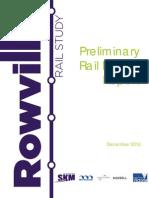 Rowville Rail Study Preliminary Rail Design Report FINAL