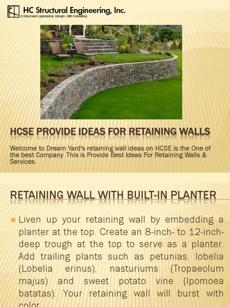 Nice Short Retaining Wall Ideas Ideas - The Wall Art Decorations ...
