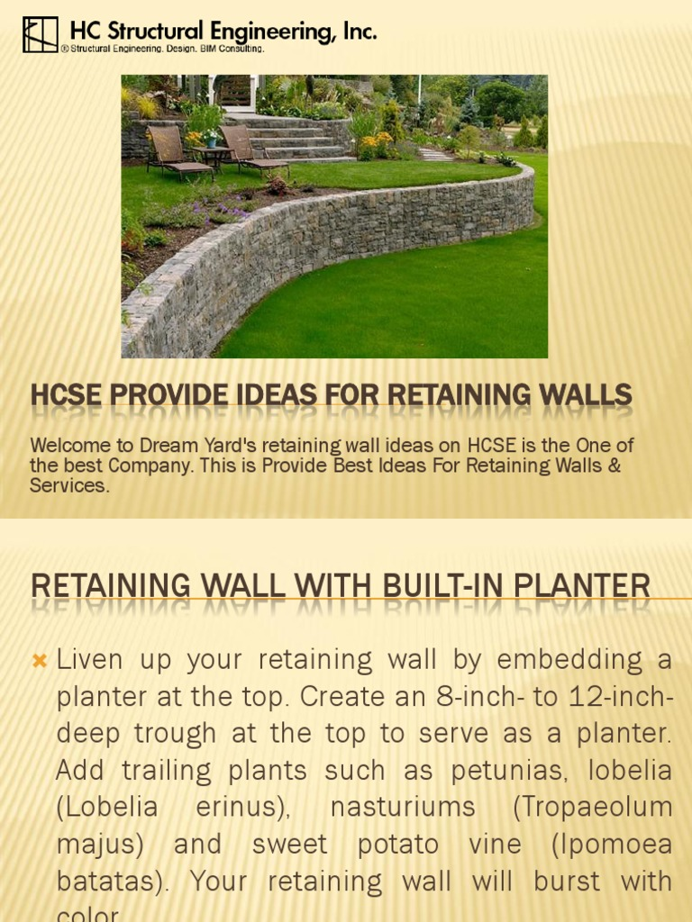 HCSE Provide Ideas for Retaining Walls | Wall | Environmental Design