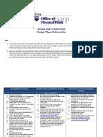 OPP Design Phase Deliverables- 8-12-11