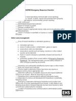 Emergency Response Checklist