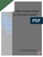 Coal India and Solar Energy