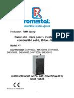 Cazanrimacbsolid Manual Tehnic Ky-Instalare,Functionare,Intretinere