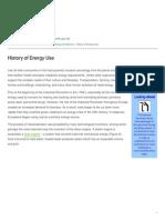 Healing Earth - History of Energy Use - 2015-09-15